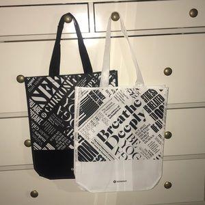Brand new lululemon large reusable bag pair